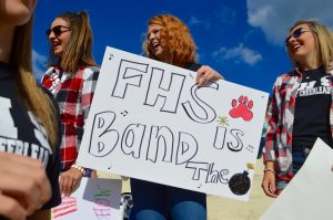 Cheer Supports Marching Band Regiment