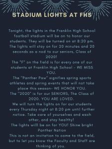 Stadium Lights at Franklin High School