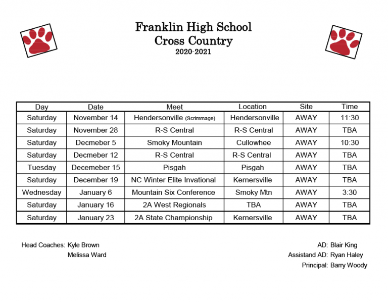 Cross Country Schedule 2020-20211024_1