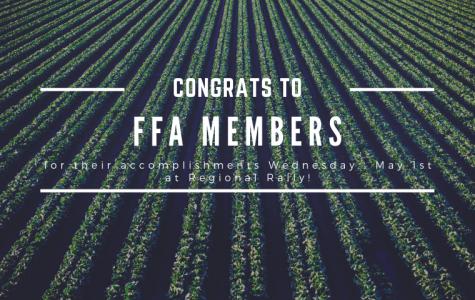 Congrats to FFA Members