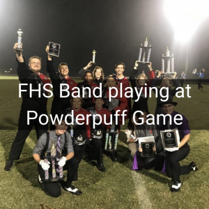 FHS Band playing at Powderpuff Game