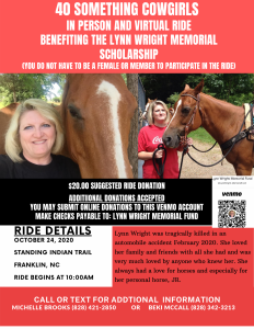 Lynn Wright Memorial Scholarship Ride